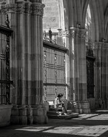 Resting Visitor, Cathedral of Toledo, 2016